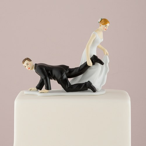 Funny Cake Decorations Uk : Comical Couple with the Bride