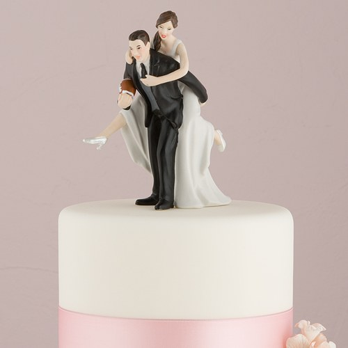 Cake Toppers Uk Bride And Groom : Football Bride and Groom Cake Topper - Confetti.co.uk