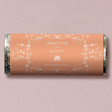 Forget Me Not Chocolate Bar Wedding Favor