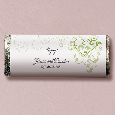 Heart Filigree Personalized Chocolate Bar Favor