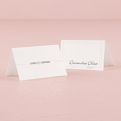 Classic Script Place Card With Fold