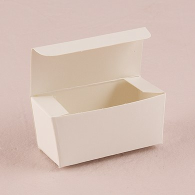 White Wedding Favor Box