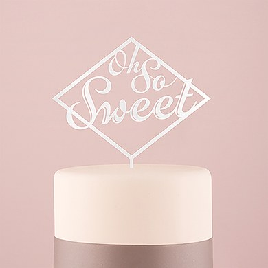 Oh So Sweet Acrylic Cake Topper   White
