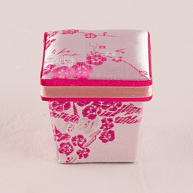 Asian Pink Brocade Favor Boxes