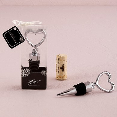 Heart Shaped Wine Bottle Stopper Wedding Favors