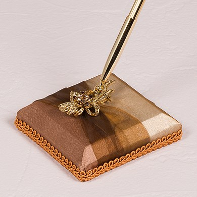 Bronze Elegance Designer Wedding Reception Pen Base