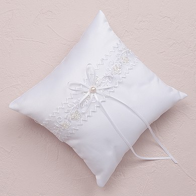 Sweet Art Square Wedding Ceremony Ring Pillow