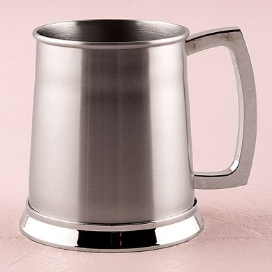 Brushed Finish Stainless Steel Tankard Wedding Gift