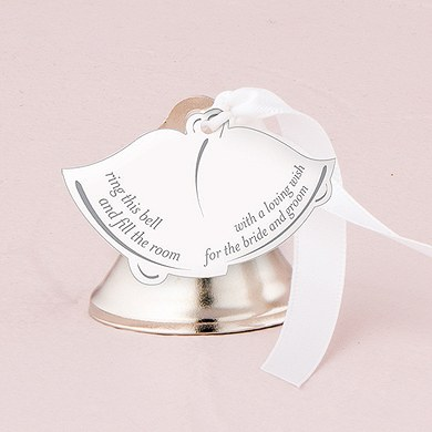 Bell Shaped Wedding Favor Card with Poem