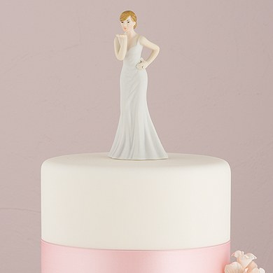 Bride Blowing Kisses Cake Topper Mix and Match