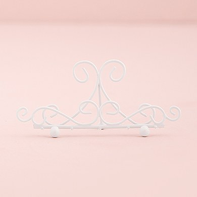 Ornamental Wire Stationery Holders Low   White