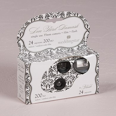 Love Bird Damask Disposable Camera