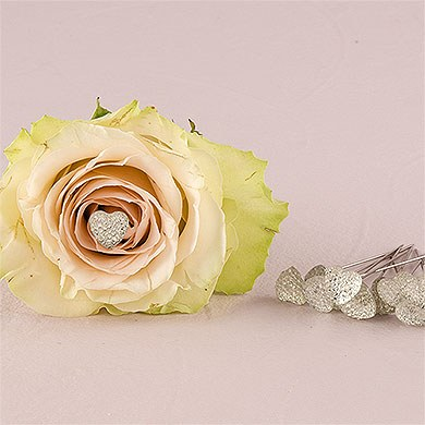 Clear Sparkle Heart Bouquet Jewelry