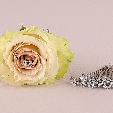 Plastic Diamond Bouquet Jewelry - 8 mm