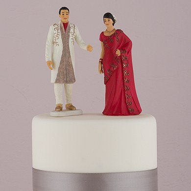 Traditional Indian Bride and Groom Figurines