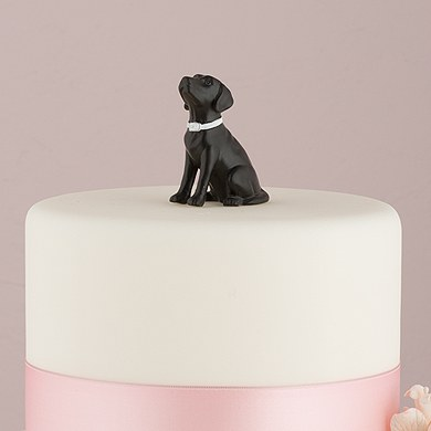 Labrador Dog Figurine in Black
