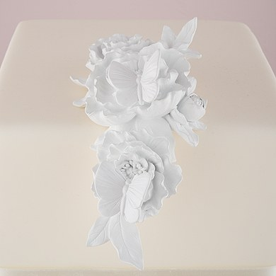 Ornamental Butterfly and Floral Cake Decoration