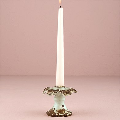 Vintage Inspired Iron Taper Candle