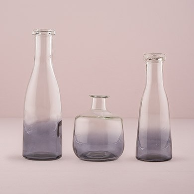 Glass Bottle with Ombre Smoke Decoration - Medium