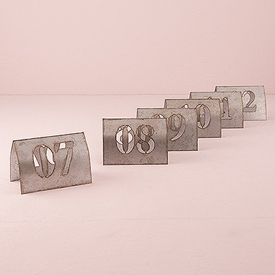 Laser Cut Industrial Metal Table Signs