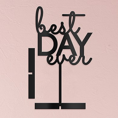 Best Day Ever Acrylic Sign   Black