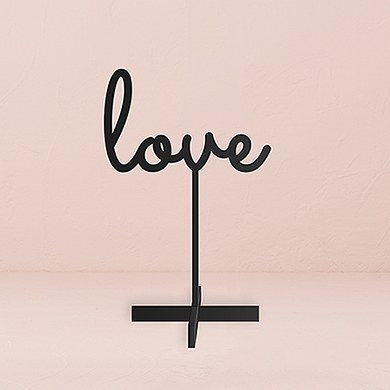 Love  Acrylic Sign   Black