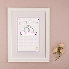 Homespun Charm Signature Certificate with Frame
