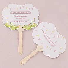 Homespun Charm Personalized Hand Fan