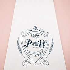 Regal Monogram Personalized Aisle Runner