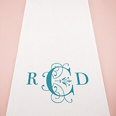 Classic Deco Monogram Personalized Aisle Runner