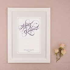 Expressions Personalized Signature Certificate with Frame