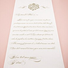 Parisian Love Letter Personalized Aisle Runner