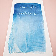 Aqueous Personalized Aisle Runner
