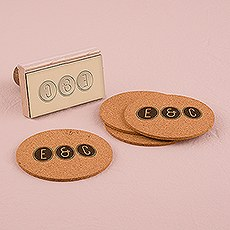 Smart Type Personalized Monogram Rubber Stamp