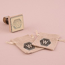 Bistro Bliss Personalized Monogram Rubber Stamp