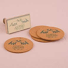 Woodland Style Foxes Personalized Rubber Stamp