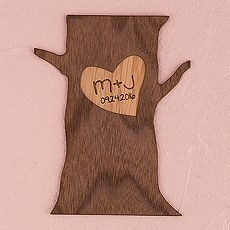 Personalized Wood Veneer Sign - Tree Trunk
