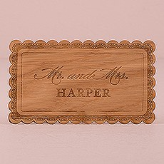 Personalized Wood Veneer Sign - Lace
