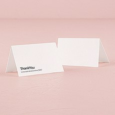 Monogram Simplicity Place Card With Fold - Open Area for Embossing/Stamping