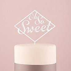 Oh So Sweet Acrylic Cake Topper - White