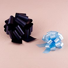 Colored Poly Ribbon Pull Bows