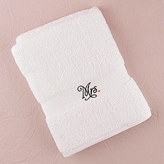 """Mr. + Mrs."" Towels"