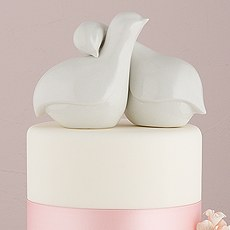 Contemporary Love Birds Cake Topper