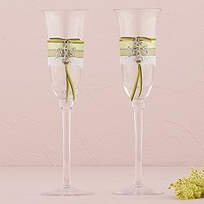 Celtic Wedding Champagne Flutes