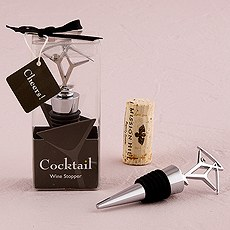 Cocktail with Olive Green Crystal Wine Stopper in Gift Packaging