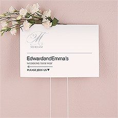 Monogram Simplicity Directional Sign - Elegant