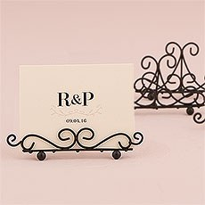 Ornamental Wire Stationery Holders Low - Black