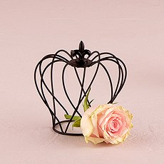 Small Wire Crown Wedding Favor Décor
