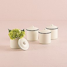 French Provençal Mini Decorative Canister with Lid
