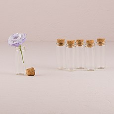 Clear Mini Bottle Favor with Cork Stopper